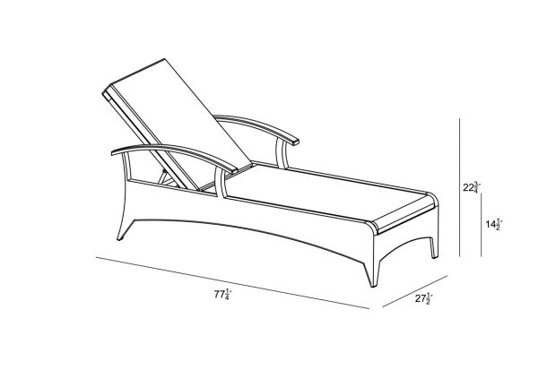 Arbor Reclining Chaise Lounge Canvas