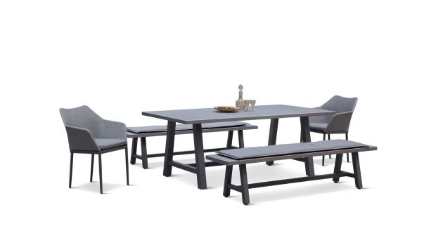 Superb Commons Trestle 5 Piece Bench Dining Set Gmtry Best Dining Table And Chair Ideas Images Gmtryco